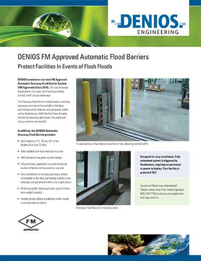 DENIOS FM Approved Automatic Flood Barriers